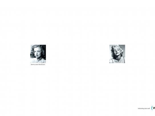 Water Print Ad -  Marilyn Monroe