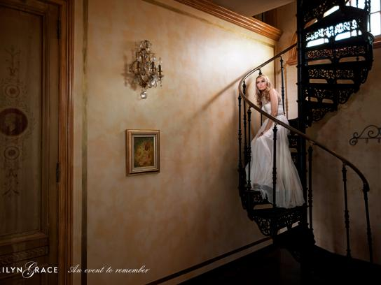 Marilyn Grace Print Ad -  Spiral staircase
