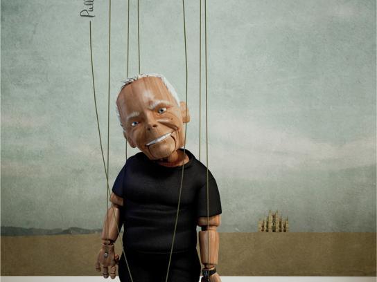 Mango Fashion Awards Print Ad -  Puppets Giorgio Armani