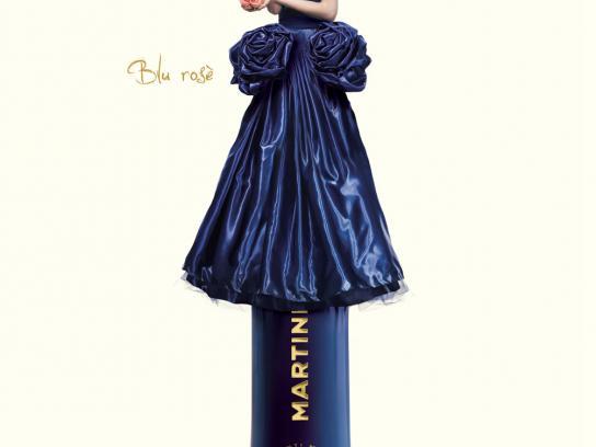 Martini Print Ad -  Blu Rose