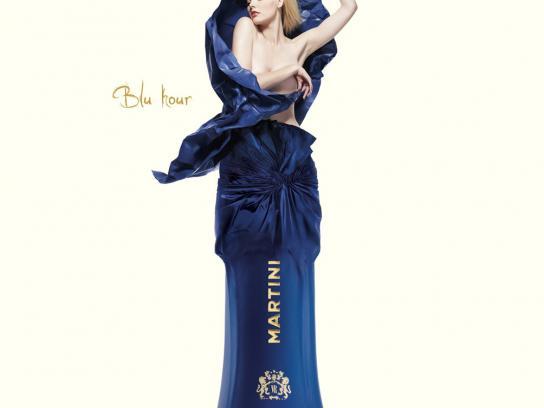 Martini Print Ad -  Blu Hour