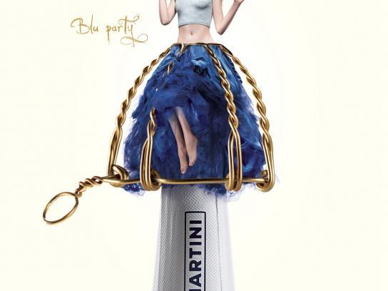 Martini Print Ad -  Blu Party