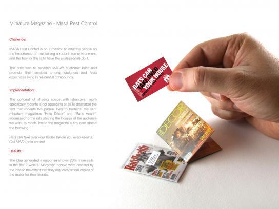 Masa Direct Ad -  Miniature magazines