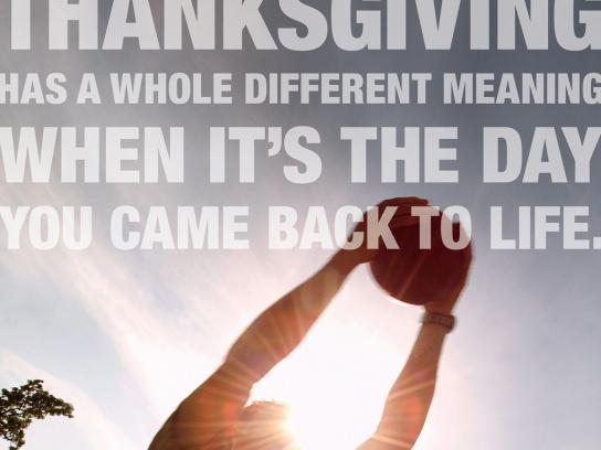Massachusetts General Hospital Print Ad -  Thanksgiving