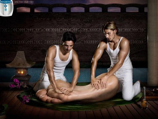 Rowenta Print Ad -  Massage