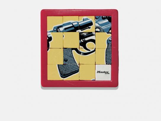 Master Lock Print Ad -  Gun