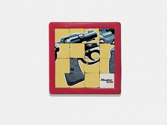 Masterlock Print Ad -  Gun
