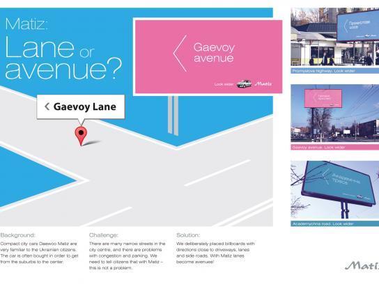 Daewoo Outdoor Ad -  Lane or Avenue