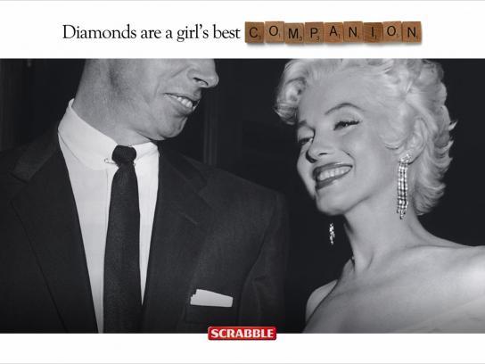 Scrabble Print Ad -  Marilyn
