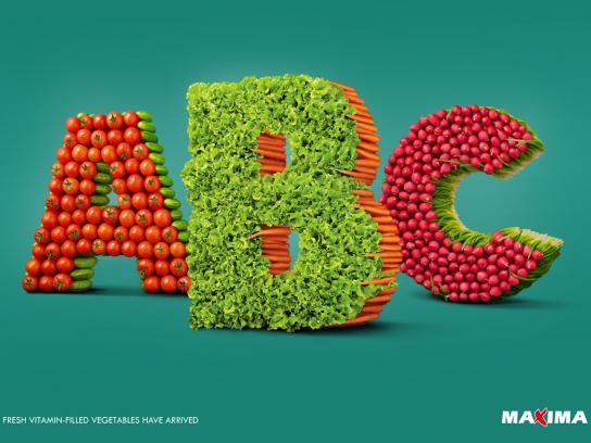 Maxima Supermarket Print Ad -  Fresh vegetables in stores now