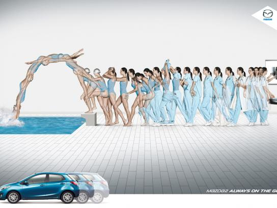 Mazda Print Ad -  Swimming