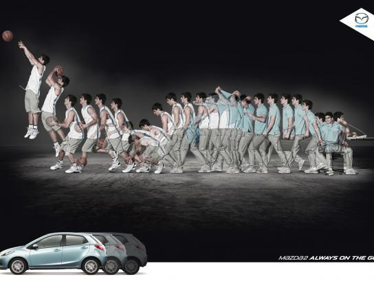 Mazda Print Ad -  Basketball