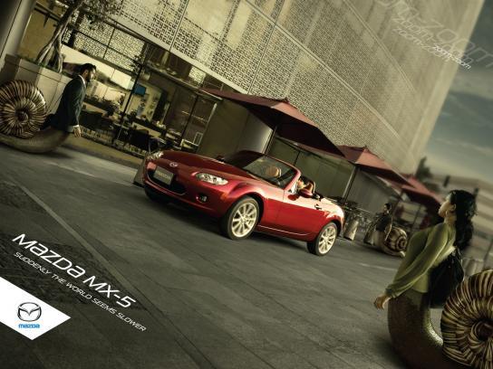 Mazda Print Ad -  Snails