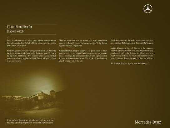 Mercedes Print Ad -  Thrilling Trips, 1