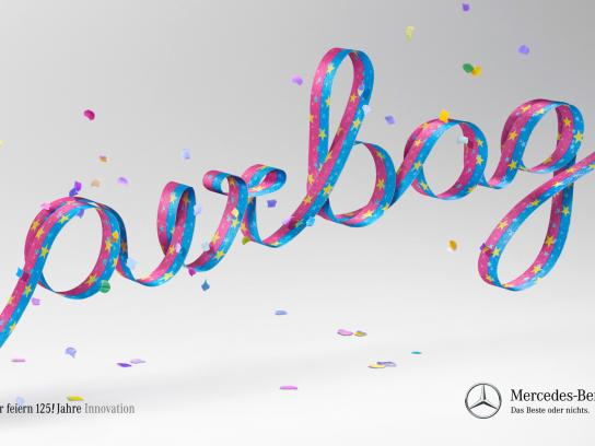 Mercedes Print Ad -  125 years of innovation, Airbag