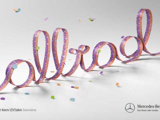 Mercedes Print Ad -  125 years of innovation, All-wheel drive