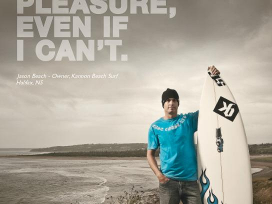MasterCard Print Ad -  Small business, Surfer