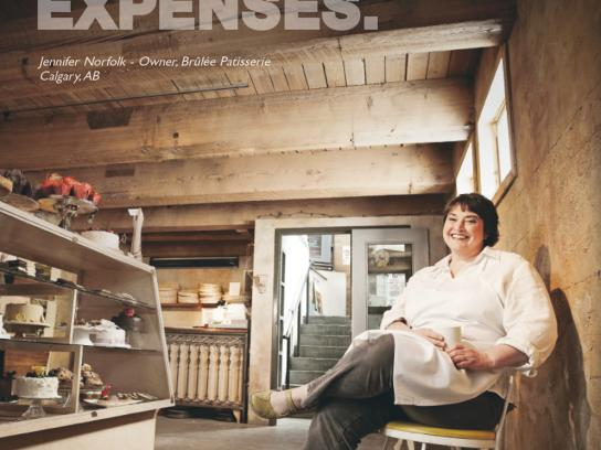 MasterCard Print Ad -  Small business, Baker