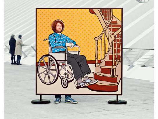 Mutualité chrétienne Print Ad -  Wheelchair