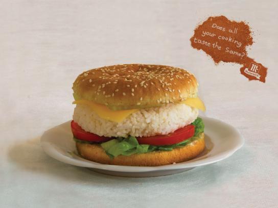 Mc'Cormick Print Ad -  Burger