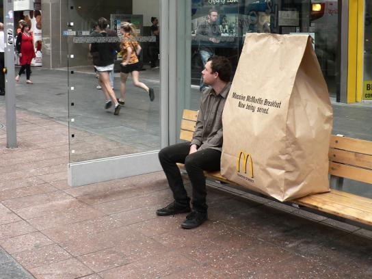 McDonald's Ambient Ad -  Massive McMuffin Breakfast, 2