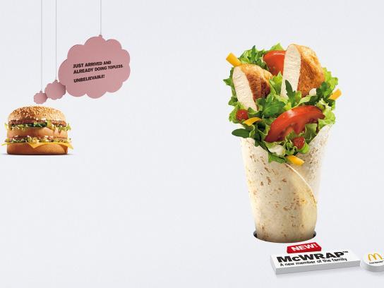 McDonald's Print Ad -  Topless