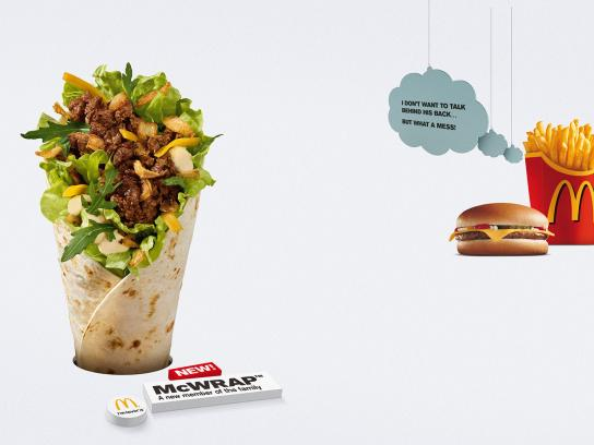 McDonald's Print Ad -  Behind his back