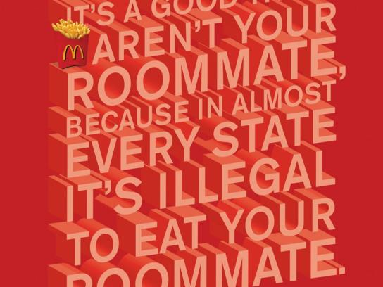 McDonald's Print Ad -  Room Mate