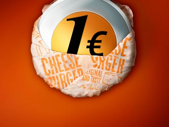McDonald's Print Ad -  1€ Cheeseburger