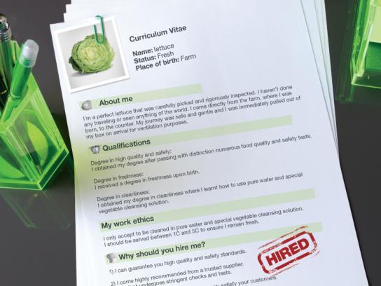 McDonald's Print Ad -  Lettuce CV