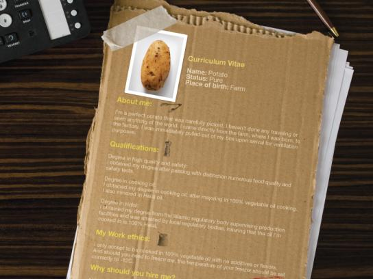 McDonald's Print Ad -  Potato CV