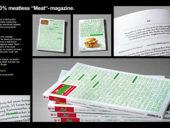 "McDonald's Direct Ad -  The 100% meatless ""Meat""-magazine"