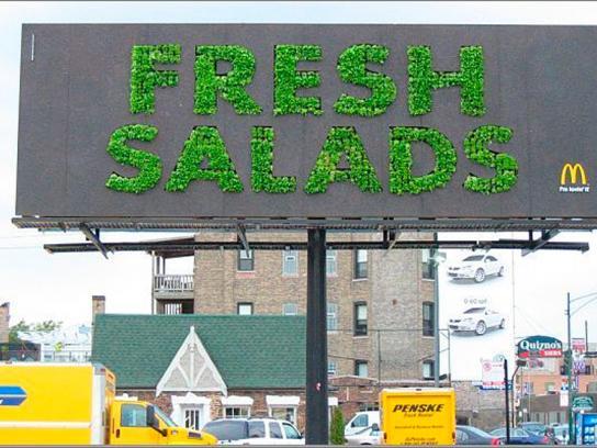 McDonald's Ambient Ad -  Fresh salad billboard