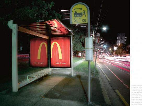 McDonald's Outdoor Ad -  Night