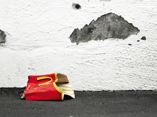 McDonald's Print Ad -  Angry wall, 2