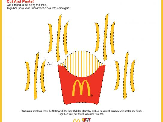 McDonald's Print Ad -  Cut and paste