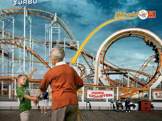 McDonald's Print Ad -  Roller coaster