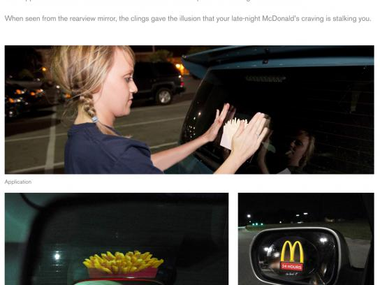 McDonald's Ambient Ad -  Crave Clings