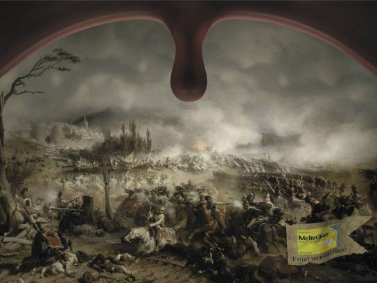 Mebucaine Print Ad -  Battlefield, 1
