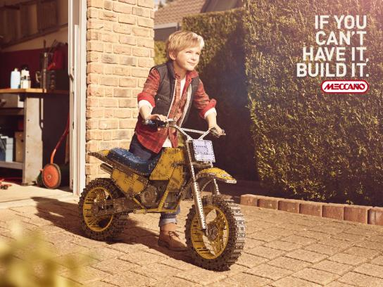 Meccano Print Ad -  Motorbike
