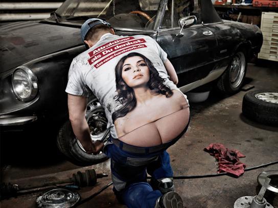 The German Crafts Print Ad -  The Craftsmen's Boobs, Mechanic