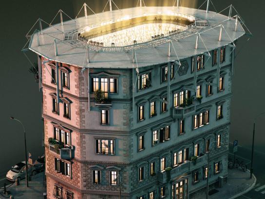 Mediaset Premium Print Ad -  Stadium, 1