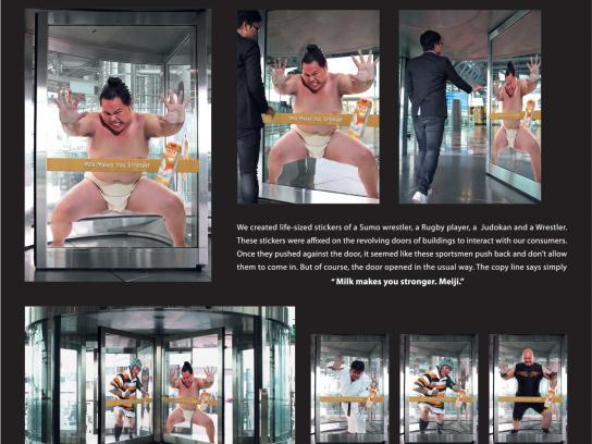 Meiji Outdoor Ad -  Stronger