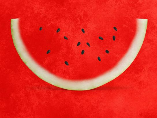 Dyrup Print Ad -  Melon color