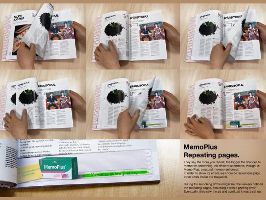 MemoPlus Print Ad -  Repeating pages