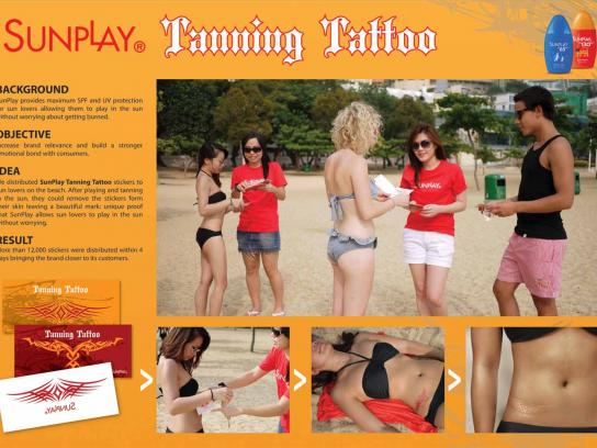 Sunplay Direct Ad -  Tanning Tattoo