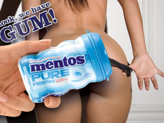 Mentos Print Ad -  Knickers