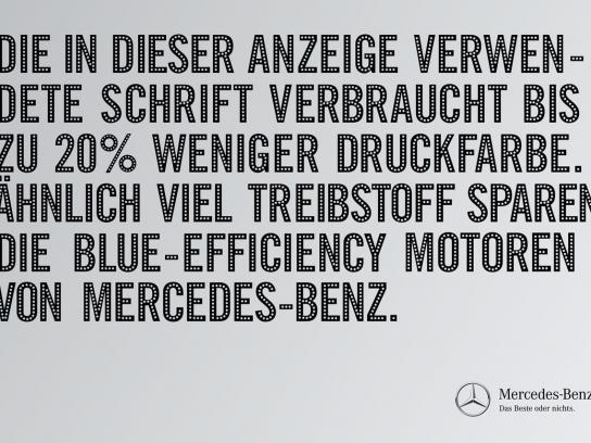 Mercedes Print Ad -  20% less