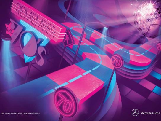 Mercedes Print Ad -  70s
