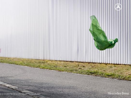 Mercedes Print Ad -  Green